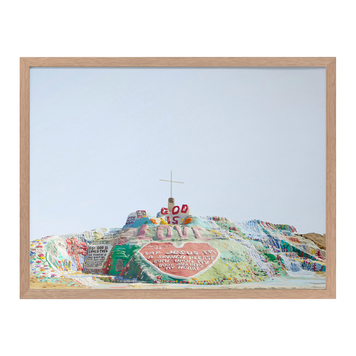 Urban Road Salvation Mountain Framed Printed Wall Art