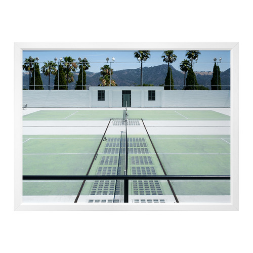 Urban Road Down To The Tennis Court Framed Printed Wall Art