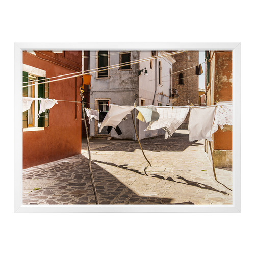 Urban Road Out To Dry Framed Printed Wall Art