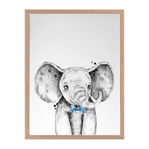Urban Road Errol Elephant Framed Printed Wall Art