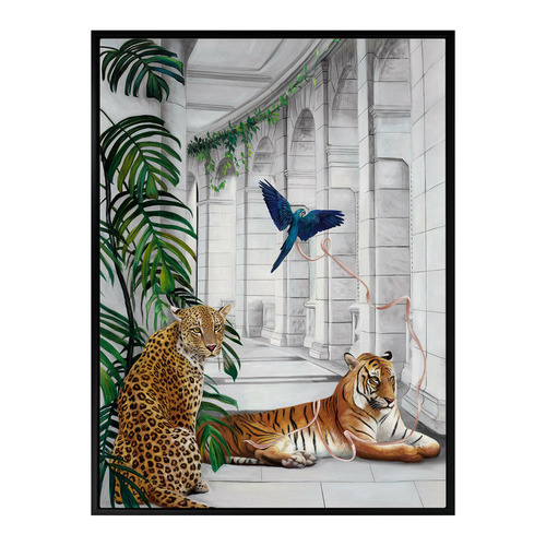 Urban Road Big Cat Club Canvas Wall Art
