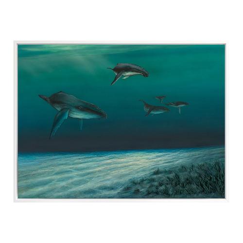 Urban Road Whales Canvas Wall Art