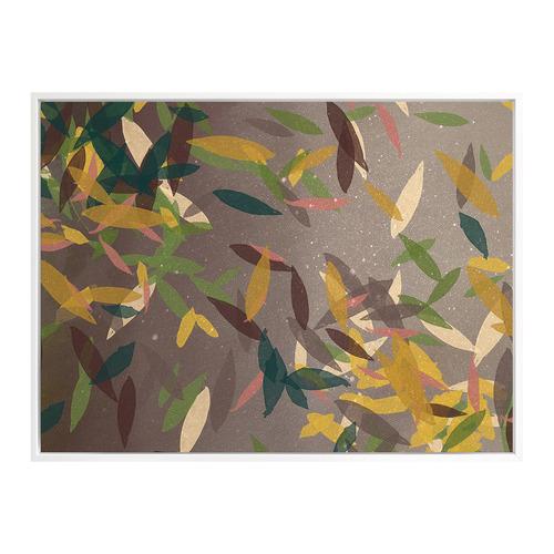 Urban Road Autumn Rain Canvas Wall Art