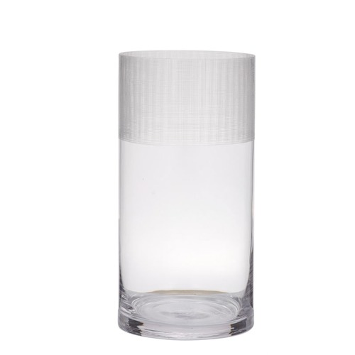 The Home Collective Stanton Etched Rim Glass Vase