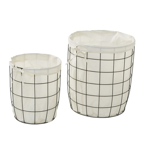 The Home Collective 2 Piece Perry Metal Hampers