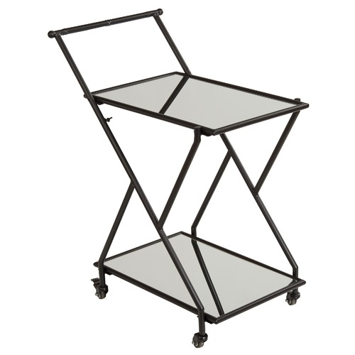 The Home Collective Zander Mirrored Drinks Trolley