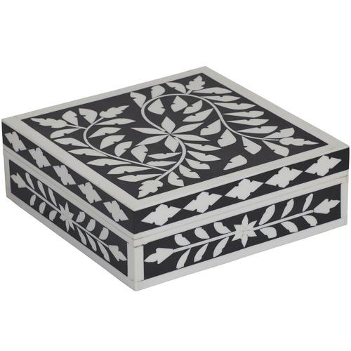 Black & White Ramani Resin Deco Boxes