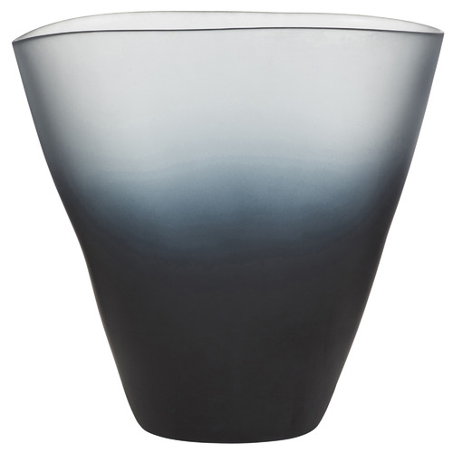 The Home Collective Matte Ombre Grey Ingrid Glass Vase