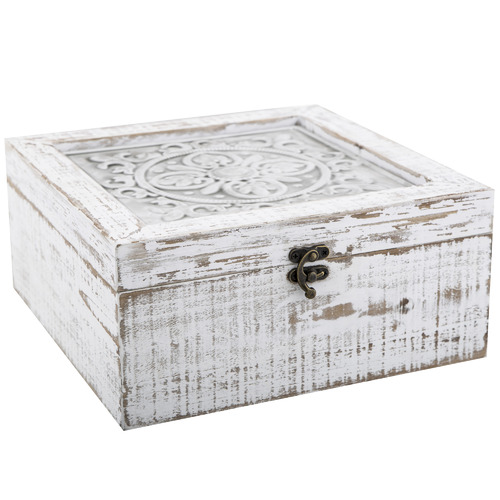 The Home Collective Whitewash Toulouse Wooden Deco Boxes