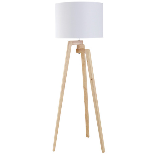 The Home Collective Oslo Wooden Floor Lamp
