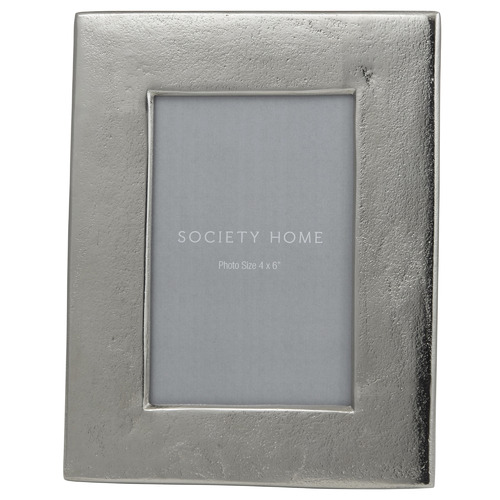 The Home Collective Silver Margaux Metal Photo Frame