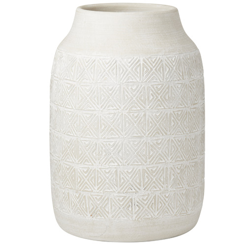 The Home Collective Tall Cream Oden Ceramic Vases