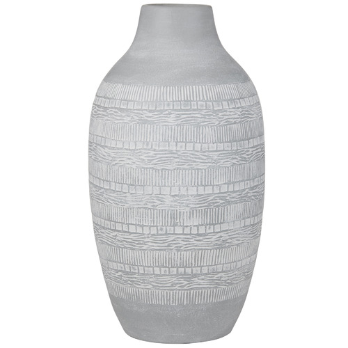 The Home Collective Tall Grey Maya Ceramic Vases