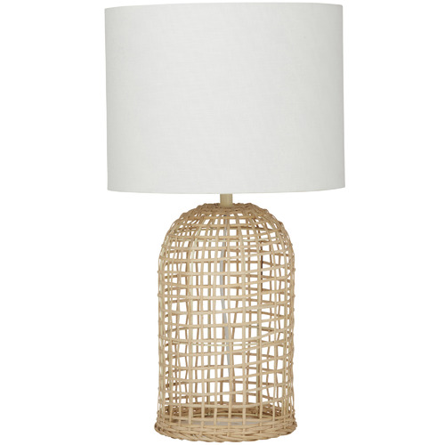 The Home Collective Coast Rattan Table Lamp