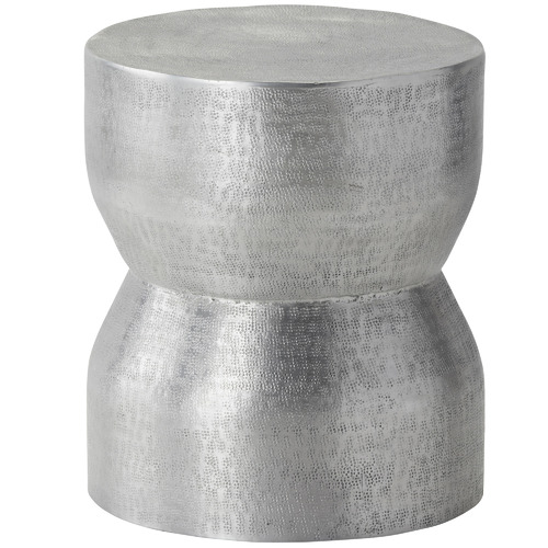 The Home Collective Antique Silver Aika Metal Side Table
