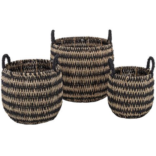 The Home Collective 3 Piece Vas Seagrass Basket
