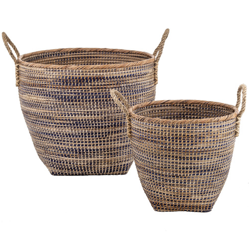 The Home Collective 2 Piece Pablo Seagrass Basket Set