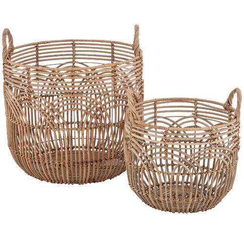 The Home Collective 2 Piece Alfa Rattan Basket Set