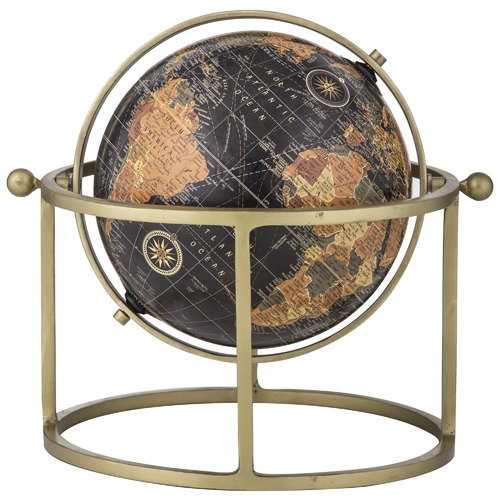 Zach World Globe on Metal Stand