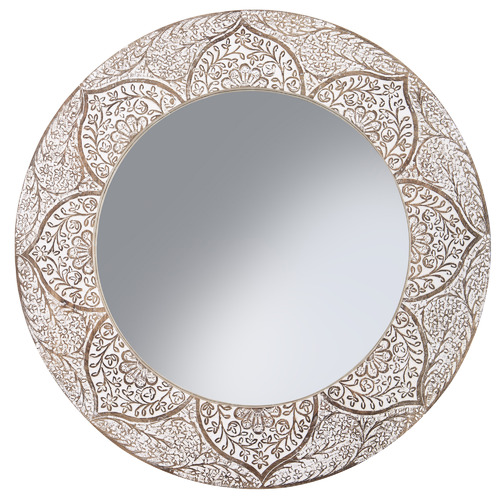 The Home Collective Asher Wooden Wall Mirror