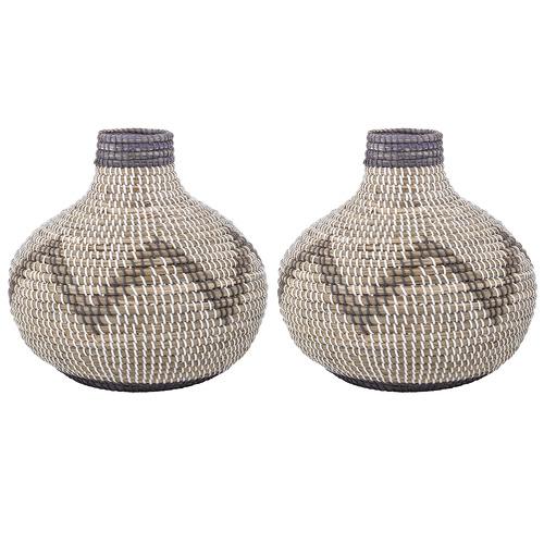 The Home Collective Wide Razi Seagrass Vases