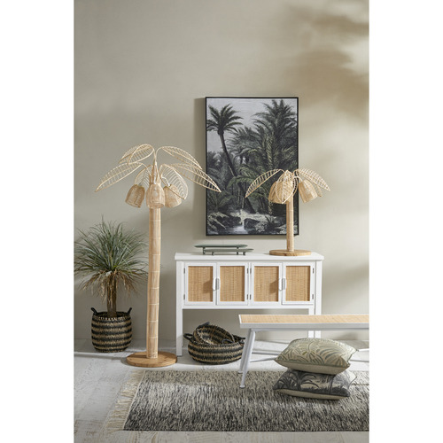 The Home Collective Alba Rattan Table Lamp