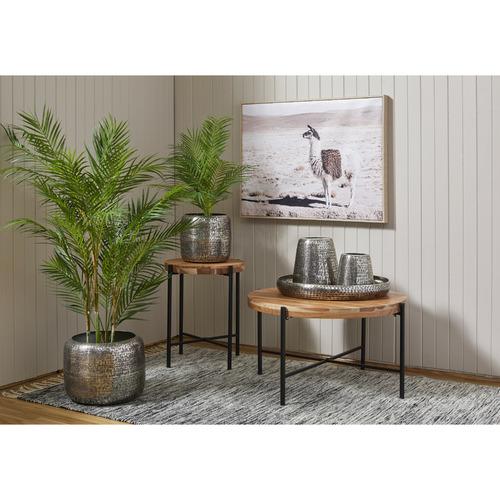 The Home Collective 2 Piece Carama Metal Planter Pot Set