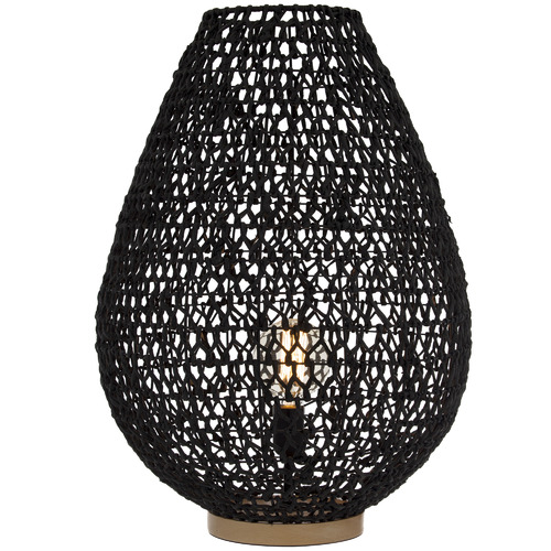 The Home Collective Black & Natural Lonsdale Table Lamp