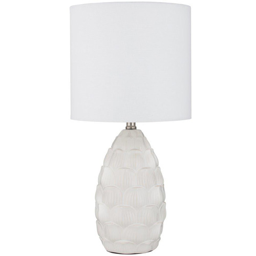 The Home Collective Matte White Summit Ceramic Table Lamp