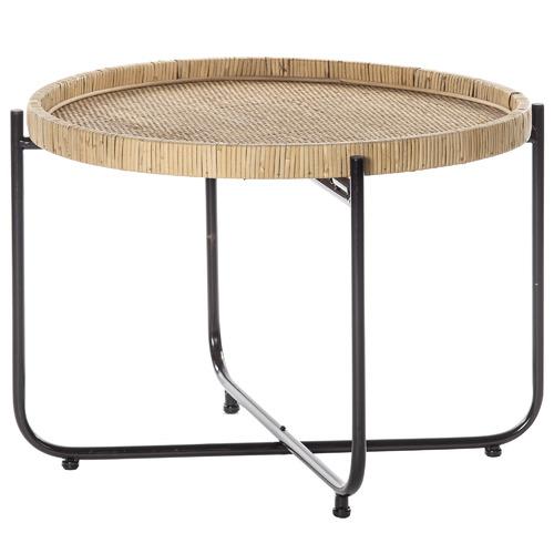 Portsea Rattan & Metal Coffee Table