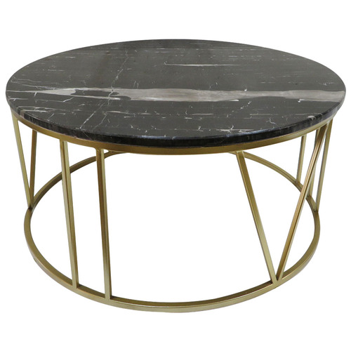 The Home Collective Black & Gold Shelby Marble-Top Coffee Table