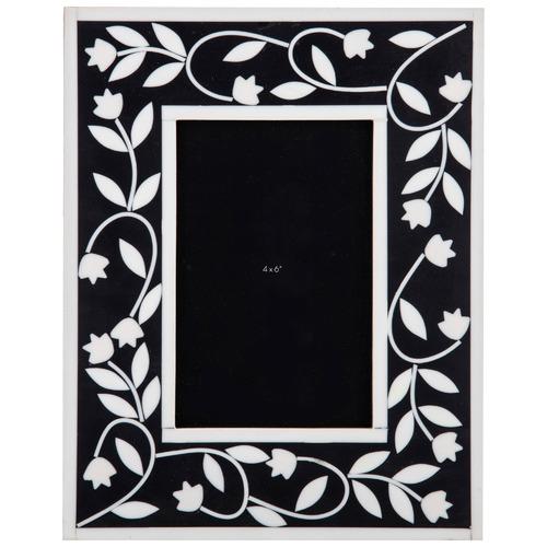 """Black & White Alaia 4 x 6"""" Resin Photo Frame"""