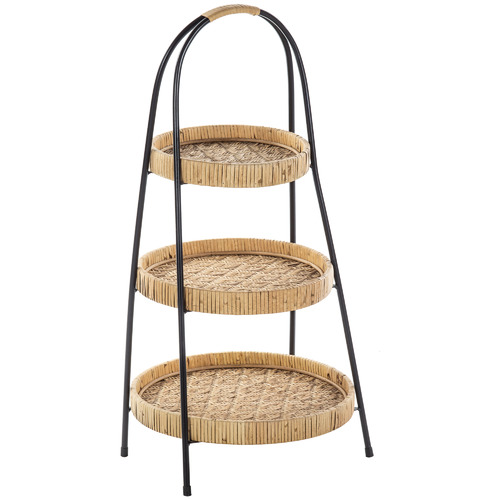 The Home Collective Portsea 3 Tier Rattan Food Stand