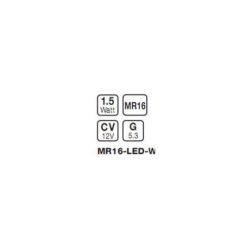 Superlux MR16 LED Reflector Lamp in White