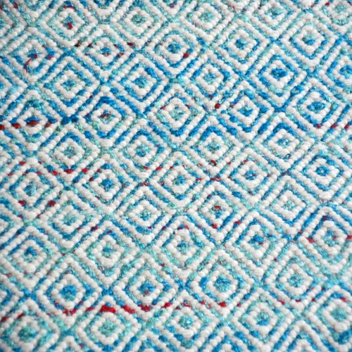 Ground Work Rugs Blue Khadi Sari Silk-Blend Rug