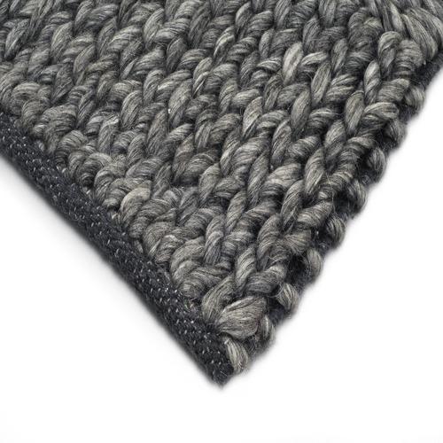 Ground Work Rugs Ash Grey Ottawa Braided Wool-Blend Rug