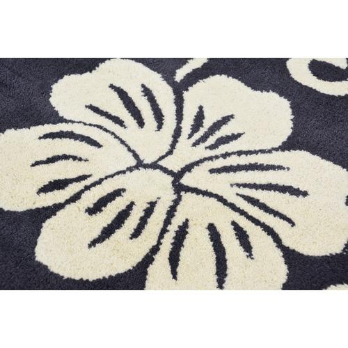 Ground Work Rugs Charcoal Halb Round Wool-Blend Rug