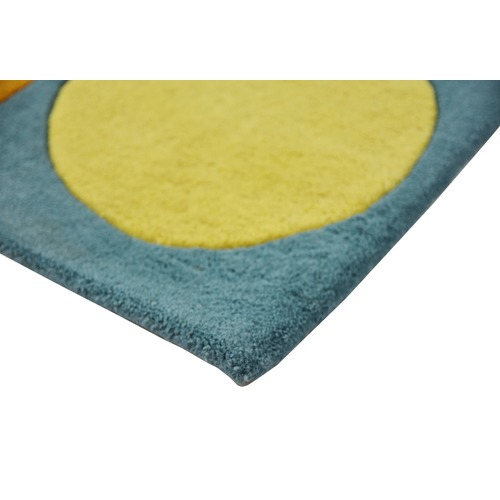 Ground Work Rugs Polkas Hand Made Kids' Wool-Blend Rug