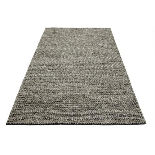 Ground Work Rugs Ash Grey Link Braided Wool-Blend Rug