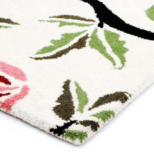 Ground Work Rugs Ivory & Pink Halb Botanical Wool-Blend Rug