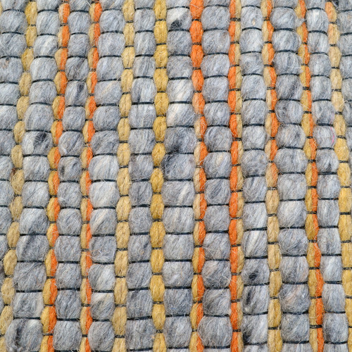 Ground Work Rugs Orange & Charcoal Sua Hand Woven Wool & Cotton Rug