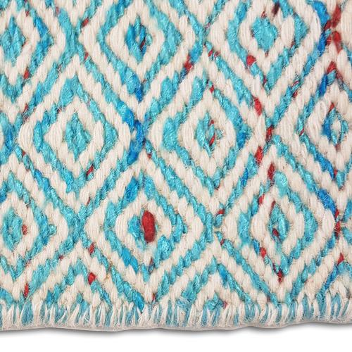 Ground Work Rugs Blue Khadi Sari Silk-Blend Rug