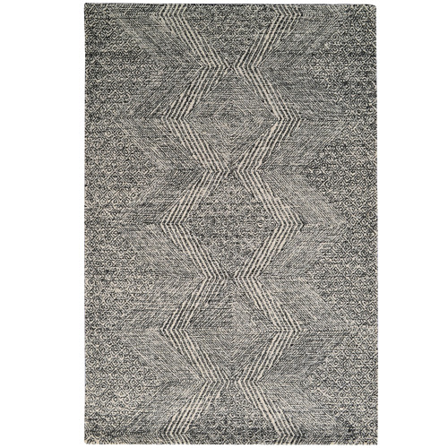 Ground Work Rugs Charcoal Newcastle Hand-Tufted Wool-Blend Rug