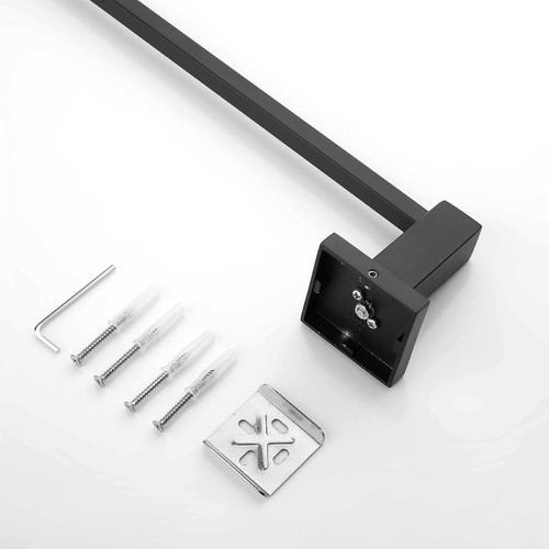 ACA Tapware Black Stainless Steel Cubic Single Towel Rail