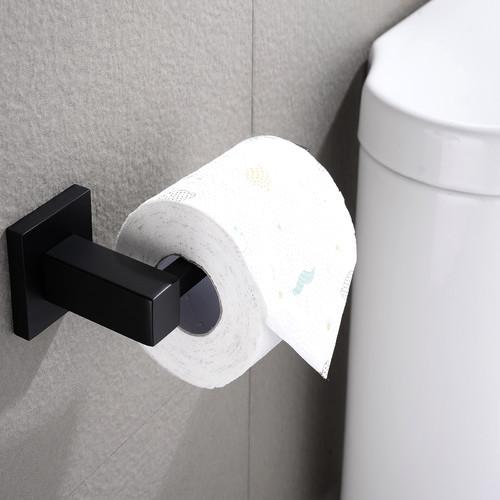 ACA Tapware Black Stainless Steel Toilet Paper Roll Holder
