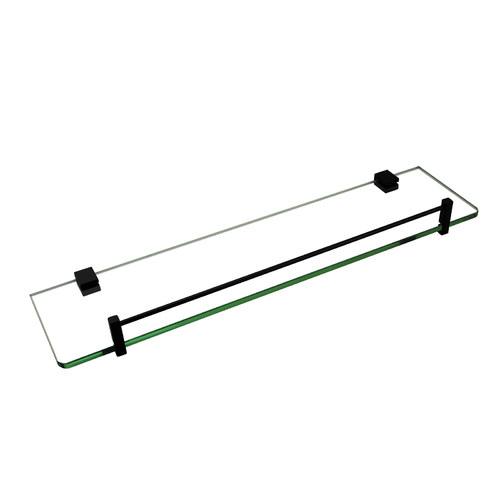 Expert Homewares Black Glass Storage Shelf