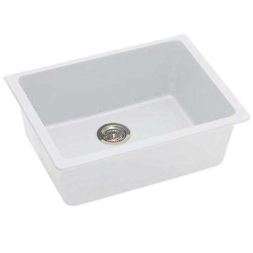White Granite Kitchen Single Sink Bowl