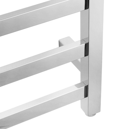ACA Tapware Square Stainless Steel 9 Bar Electric Heated Towel Rack