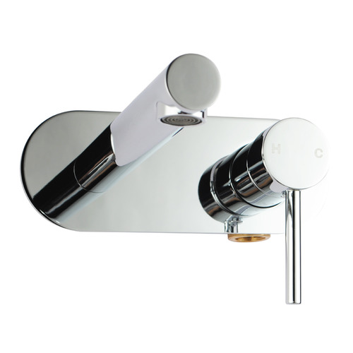 Expert Homewares Round Euro Bathtub & Basin Wall Mixer with Spout