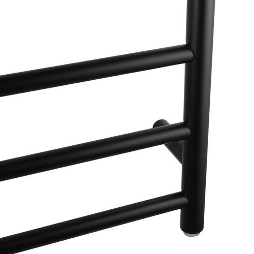 Matte Black Stainless Steel 7 Bar Electric Heated Towel Rack